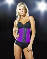 Ann Chery Deportiva Sport Latex Waist Cincher Body Shaper - #1 Seller! (Neon Purple, XL-38)