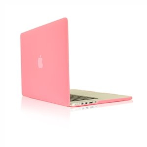 TopCase Pink Rubberized Hard Case Cover for Apple MacBook Pro 13.3