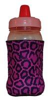 Kidzies Huggerz, Child'S Drink Sippy Cup Bottle Insulator, Cheetah Design front-132494
