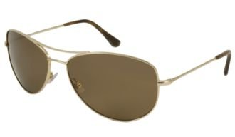 Kate Spade Sunglasses - Ally P/S / Frame: Gold Lens: Brown Polarized
