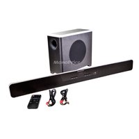 Monoprice 2.1-Channel Home Theater Sound Bar w/ 2.4GHz Wireless Subwoofer