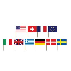 International Flag Picks (asstd designs) Party Accessory  (1 count) (50/Pkg)