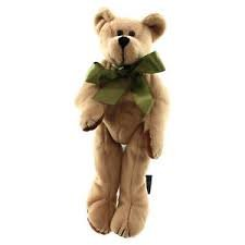 "Boyds Bears PADDY McDoodle Tan with Green Ribbon 9"" Poseable Teddy - 1"