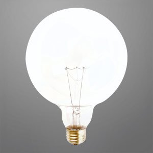 40 Watt G40 Globe Long Life Decorative Light Bulb G40 Clear Medium Base Incandescent Bulbs