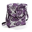 Thirty One Retro Metro Fold Over - Plum Awesome Blossom - no monogram