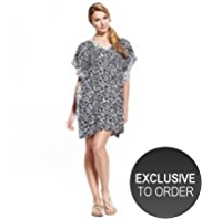 M&S Collection Brushstroke Cover-Up Kaftan