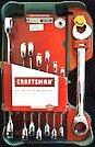 Craftsman 8Pc Sae Std Inch Dual Ratcheting Wrench Set # 14755