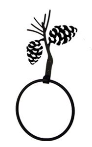 Village Wrought Iron Tbr-89 Pinecone Towel Ring front-5760