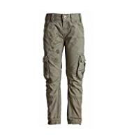 Pure Cotton Adjustable Waist Printed Cargo Trousers