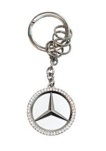 Mercedes Benz Star Key Ring w/Swarovski Crystals (Mercedes Key Ring compare prices)