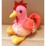 TY Beanie Babies Strut the Rooster Stuffed Animal