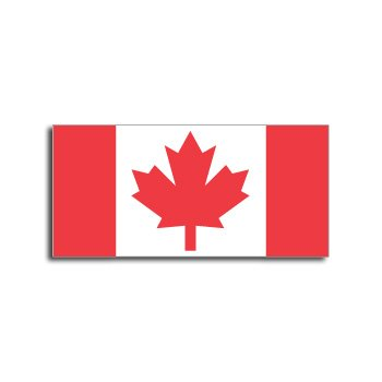 CANADA Flag - Window Bumper Laptop Sticker