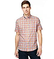Blue Harbour Supersoft Pure Cotton Textured Checked Shirt