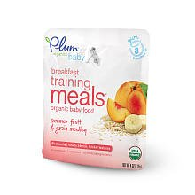 Plum Organics Baby Breakfast Training Meals Summer Fruit and Grain Medley -- 4 oz
