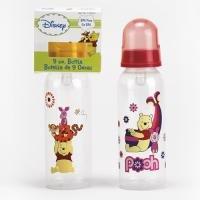 One 9oz. Winnie the Pooh Nursing Bottle BPA Free - Pink, Blue or Yellow Colors May Vary.