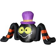 Halloween Inflatable 4' Long Spider w/ Top Hat by Gemmy