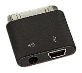 SendStation H2O Audio PDLO-MiU5 PocketDock Line Out Mini USB Adapter for iPhone, iPod and iPad - Black