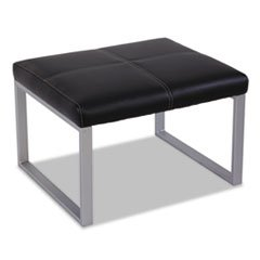 Alera Rl8319Csm Reception Lounge Series Cube Ottoman, 26-3/8 X 22-5/8 X 17-3/8, Black/Silver
