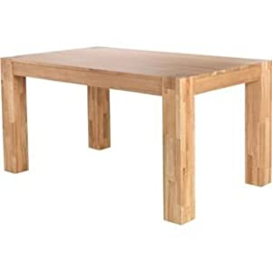 Schreiber Living Eden Solid Oak And Oak Veneer Dining Table 180cm