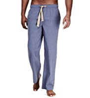 North Coast Pure Cotton Chambray Pyjama Bottoms