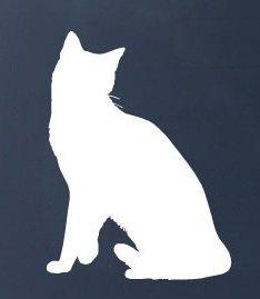 Snowshoe Cat - Vinyl Car Decal Sticker #1561 | Vinyl Color: White