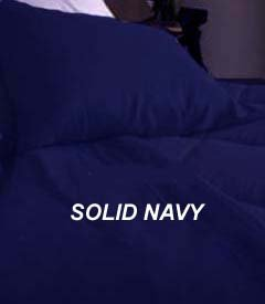 300TC Egyptian Cotton FULL QUEEN NAVY SOLID DUVET
