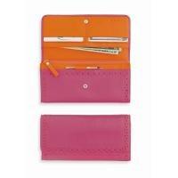 Cross Autocross AC204-7A Women's Money Wallet Collection Slim Envelope Wallet (Pink/Orange)