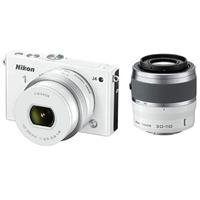 Nikon 1 J4 Mirrorless Digital Camera 2 Lens Kit With 10-30Mm & 30-110Mm Lenses, White - Bundle With Camera Bag. 32Gb Class 10 Micro Sdhc Card, Spare Battery, 40.5Mm Uv Filter, 40.5Mm Cpl Filter, Table Top Tripod, Cleaning Kit, Sd Card Reader, Screen Prote
