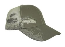 Bass Mesh Pre-decorated Fishing Hat