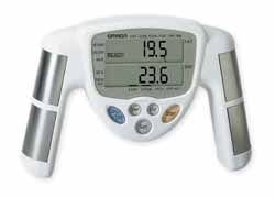 Image of Body Fat Monitor and Analyzer Measurement of body fat composition is the key to long-term exercise success. This hand held body fat analyzer is an affordable and easy way to measure body fat in the privacy of your own home (B002ABYMIS)
