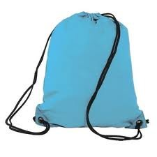 Light Blue Drawstring Bag Backpack Rucksack School Book Bag Sport Gym Swim PE Football Karate Ju-Jitsu Running Swimming Boxing Judo Netball Bag 'Brand New'