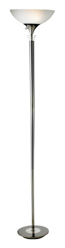 Adesso 5120-01 Metropolis Floor Lamp, Black Nickel