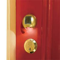 Smart Solar 3720WML1 Solar Key Hole Light (with interchangeable covers; brass, chrome & white finishes)