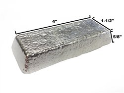 Lead Free Pewter Alloy Ac Casting Ingot 92 Tin 7 75