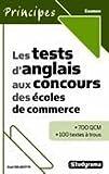echange, troc Axel Delmotte - Les tests d'anglais aux concours des écoles de commerce
