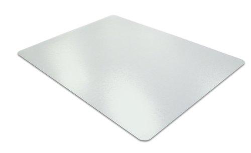 Floortex Ultimat Polycarbonate 120cm x 150cm Rectangular Chair mat for use on hard floor surfaces - Clear