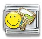 Painter Smiley Face Occupation Italian Charm