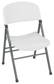 Cosco Cosco Commercial Molded Resin Folding Chair - With Pewter Frame, White Speckle, Steel front-989088
