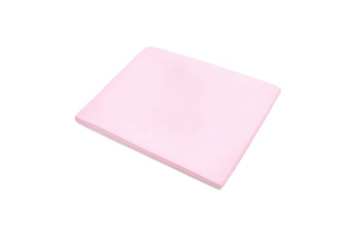 Baby Boum 75 x 95cm Cotton Rich Jersey Sheet for Travel Cot (Candyfloss Pink)