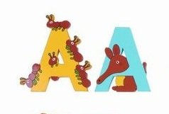 [WOODEN JUNGLE ANIMAL ALPHABET LETTERS PERSONALISED BEDROOM WALL DOOR NAME (A) by Vinsani] (Animals That Start With The Letter E)