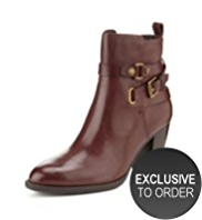 Autograph Leather Buckle & Strap Boots with Insolia®