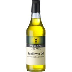 Meridian - Organic Sunflower Oil - Cold Pressed and Unrefined - 500ml