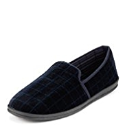 Slip-On Checked Slippers