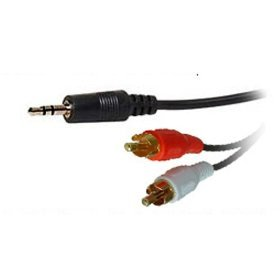 FPUK 1.2m 3.5mm 3.5 Stereo Jack to 2 x Phonos/RCA Cable/Lead