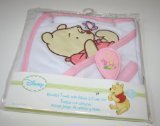 Disney Winnie the Pooh Hooded Bath Towel & Brush & Comb Set - Pink