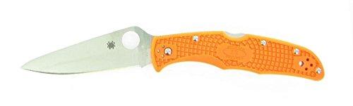 Spyderco Endura4 Lightweight FRN Flat Ground Plain Edge Knife, Orange