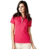 Per Una Pure Cotton Spotted Polo Shirt