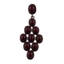 Origin Jewelry Red and Silver Colored Resin Earring