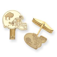 14K Buffalo Bills Helmet Cuff Links - JewelryWeb