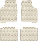 Chevrolet Chevelle Custom-Fit All-Weather Rubber Floor Mats 4 Pc Set - Convertible - Ivory (1973 73 1974 74 1975 75 1976 76 1977 77 ) AMSNGAF435214||804NB1PW